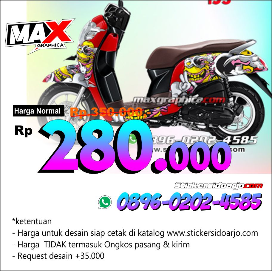 decal scoopy  maxgraphica cutting sticker sidoarjo